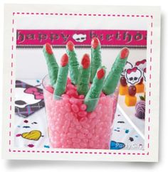 Monster High™ Crisped Rice Cereal Treat Fingers How-To - Party City Cereal Treats, Rice Cereal, James Music, Best Part Of Me, Fingers, Party Themes, Crisp, Birthdays, Anniversaries