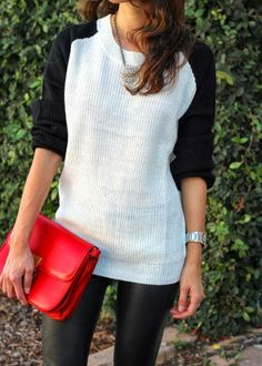black and white + a pop of red