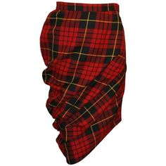 "Preowned Alexander Mcqueen A/w 1998 ""joan"" Collection Tartan Plaid... ($14,999) ❤ liked on Polyvore featuring skirts, multiple, tartan plaid skirt, tartan skirt, red tartan skirt, stretch skirt and tube skirt"