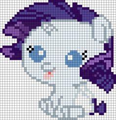 My Little Pony Newborn Rarity Perler Bead Pattern / Bead Sprite