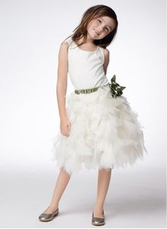 A-Line/Princess Scoop Neck Tea-Length Satin Tulle Flower Girl Dress With Sash