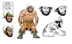 """Convergence: Shazam"" King Kull model sheet by Evan ""Doc"" Shaner"