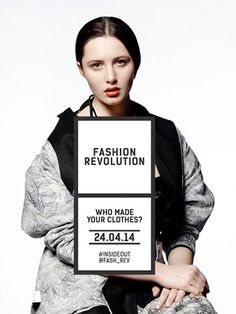 Fashion Revolution will raise awareness on the year anniversary of the Rana plaza collapse in Bangladesh.