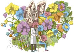Terhi Ekebom : Illustration for Kirkko & Kaupunki magazine, 2014 Finland Finland, Illustrators, Graphic Design, Artist, Painting, Magazine, Artists, Painting Art, Illustrator