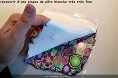 How to make a sheet out of cane slices (French) ~ Polymer Clay Tutorials Polymer Clay Canes, Fimo Clay, Polymer Clay Projects, Polymer Clay Creations, Ceramic Clay, Polymer Clay Jewelry, Polymer Beads, Clay Crafts, Video Fimo