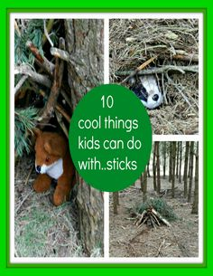Nature Crafts Nature Play: 10 Cool Things Kids Can Do With Sticks - so many fun simple nature craft nd play ideas using natural materials int he world around us for a truly unplugged childhood Forest School Activities, Nature Activities, Family Activities, Outdoor Activities, Teaching Activities, Baby On A Budget, Outdoor Learning, Outdoor Education, Early Education