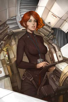 Alien Space Ship Central scifiartofficial: untitled by Namgwon Lee More inspiring sci-fi art on SciFiArtOfficial From one science fiction lover to another. Sci Fi Fantasy, Fantasy Girl, Elves Fantasy, Character Portraits, Character Art, Character Concept, Arte Cyberpunk, Space Girl, Star Wars Rpg