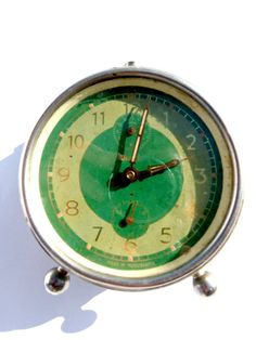 Green Insa clock from 50s RESERVED for Mr. by TheLostHomeland