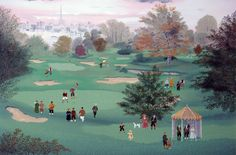 "Limited Edition Print ""Golf at St. Cloud"" by Michel Delacroix"