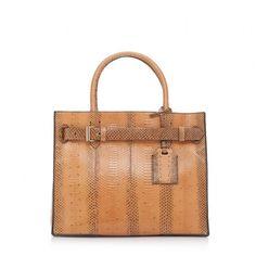 RK40 handbag in luggage-colored Ayer snakeskin.