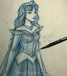 I decided to finish this Princesas sketch of Aurora because it's something I may color in the future I'm already getting ideas I did start working on Constance again so expect some updates with her soon! Disney Kunst, Arte Disney, Disney Magic, Disney Art, Disney Sketches, Disney Drawings, Disney Princess Sketches, Disney Princesses, Disney Characters