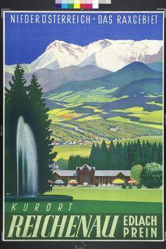 Austria Travel Vintage Poster
