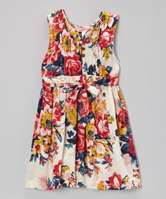 Look at this White & Hot Pink Floral Dress - Toddler & Girls on #zulily today!