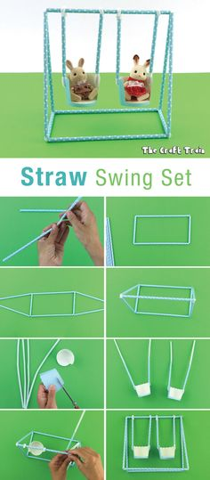 Straw swing set