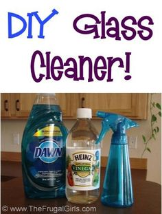 Homemade Glass Cleaner Recipe! ~ from TheFrugalGirls.com - this simple DIY solution saves SO much money, and works great on windows and mirrors!! #cleaners #thefrugalgirls