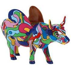 Cow Parade Cowlorida Voadora Figurine