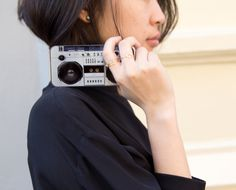 World's tiniest boombox? Or coolest iPhone case ever?