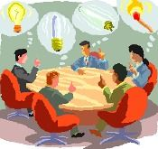 Group of Business People at a Think Tank Meeting - Royalty Free Clip Art Picture Create Yourself, Improve Yourself, Clip Art Pictures, Business Meeting, Body Language, Design Thinking, We Need, Small Groups, Accounting