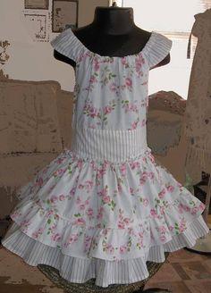 Girls Size 4 Twirl Dress Pink White Floral by WinkenBlynkenandNod
