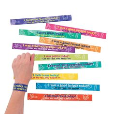 Polite Bracelets - OrientalTrading.com- These are pretty cool too! Think K's preschool teacher would be offended if I gave her these?! I love them!