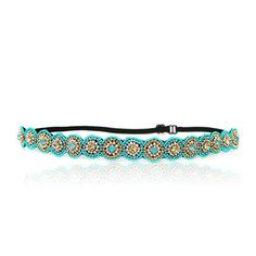 Turquoise Rhinestone Headband, Fashion, Bohemian, Beach, Rhinestones Adjustable Stretch Band ** This is an Amazon Affiliate link. Read more reviews of the product by visiting the link on the image.