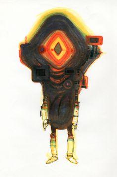 Koji Morimoto Character Design for Dimension Bomb copyright by Studio 4°C, 2009.