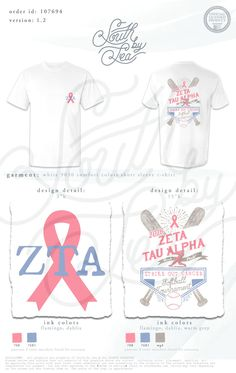 Zeta Tau Alpha | ZTA | Baseball T-Shirt Design | Philanthropy Shirt Ideas…