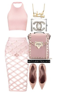 """""""Untitled #2129"""" by stylebyteajaye ❤ liked on Polyvore featuring Chanel, Gucci and Valentino"""