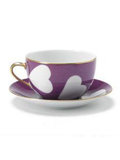 Violet Heart Breakfast Cup & Saucer