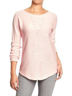 Women's Boat-Neck Curved-Hem Sweaters Product Image