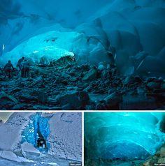 Cuevas de hielo Mendenhall de Juneau, Alaska, Estados Unidos #LugaresImpresionantes #BlogViajero