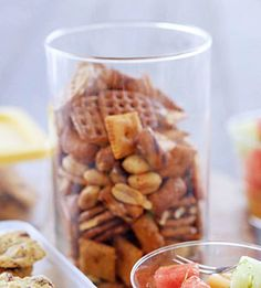 A blend of Italian seasoning, garlic, and butter makes this easy snack mix an unforgettable treat. Prepare a bowl for movie night or serve it at your next party.