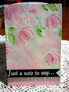 Just a Note to Say – Spring Flowers Flower Stamp, Flower Cards, Watercolor Flowers, Watercolor Art, Thank U Cards, Altenew, Penny Black, Simon Says Stamp, Distress Ink