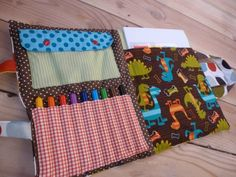 Sac d'artiste ! - En attendant Bigoudi ... Pochette Diy, Sewing Projects, Diy Projects, Pouch Pattern, Sewing Patterns For Kids, Busy Bags, Montessori Toys, Practical Gifts, Diy And Crafts