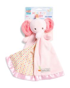 3beecd10c Baby Girls Security Blanket with Pink Elephant, Gift, Shower, Allergy  Friendly #KidsPreferred
