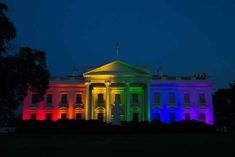 The White House Lit Up With Pride Colors After Marriage Equality Decision - BuzzFeed News - Love Wins