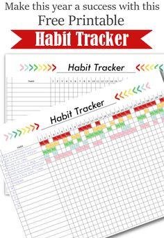 Free Printable Habit