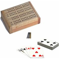 Cards Pegs Instructions Be Friendly In Use Folding Cribbage Set Game Board