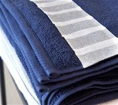Use Cricut® Iron-on to add simple stripes to your bath towels!