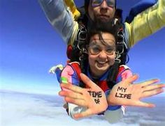 Skydiving!!! Im doing it one day