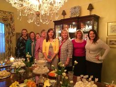 Natalee with her hostesses: Taran Holland, Judi Jackson, Robbin Phelps, Vanee Daure, Natalee, Rhonda Kelley, Carol Lemke, and Laura Landry