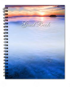 Spiral Guest Book Dusk Guest Book 8x10 Glossy Hardcover with Photo on cover, if desired.