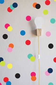 Bright BRIGHT Confetti Dots Wall Decal