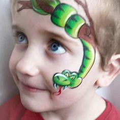 Best face painted snake EVER