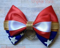 Spiderman Inspired Bow by FangirlCreation on Etsy