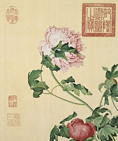 01. Painting of Peonies (Screenshot from Secret China) - See more at: http://www.chinagaze.com/2013/11/05/giuseppe-castigliones-chinese-painting-part-3/#sthash.YbM37Ruz.dpuf