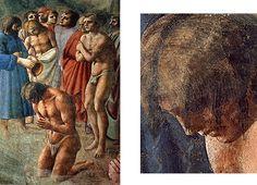 Le Baptême des néophytes, Masaccio,  Florence, église du Carmine