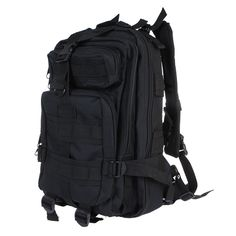 black 30L Outdoor Sport Military Tactical Backpack Molle perfect form you bug out pack.  Rucksacks - Tomtop.com
