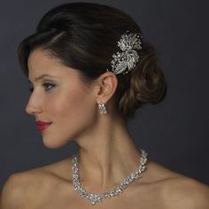 Scroll and Leaf Design Bridal Comb - I love this look!