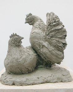 Chicken Wire Sculpture, Bird Sculpture, Animal Sculptures, Garden Sculpture, Ceramic Birds, Animal Games, Clay Animals, Chickens Backyard, All Art